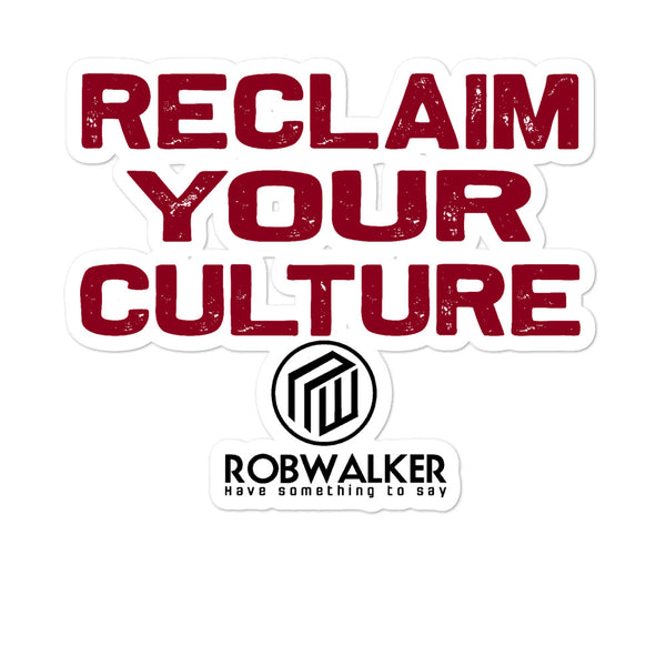 Reclaim Your Culture Bubble-free stickers