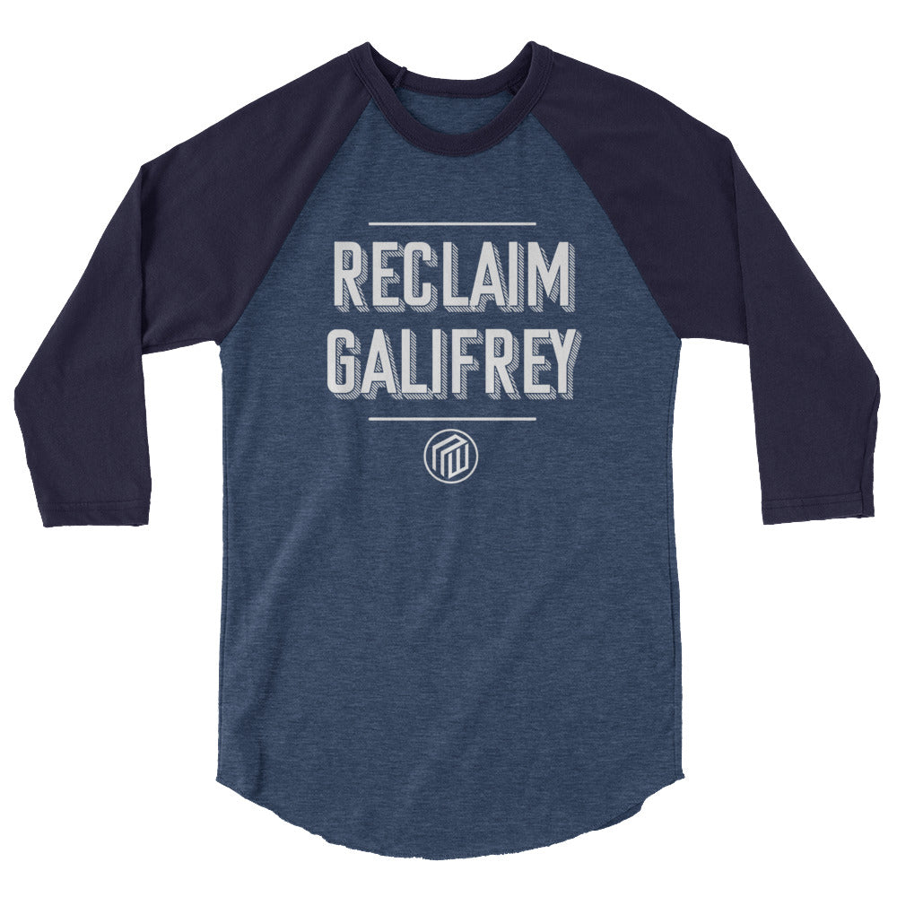 Reclaim Gallifrey 3/4 sleeve raglan shirt
