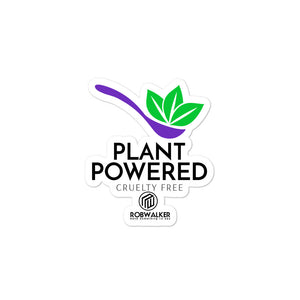 Plant Powered Spoon Bubble-free stickers