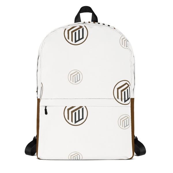 Branded White Backpack