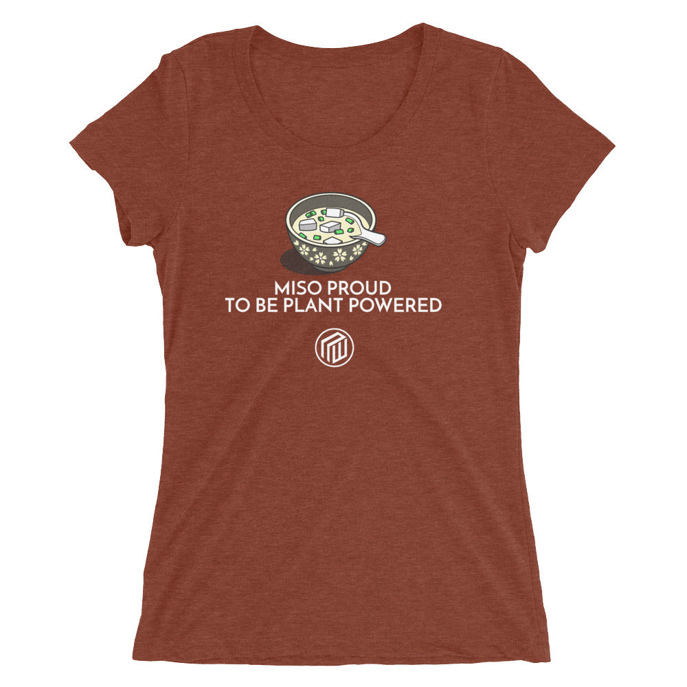 Miso proud to be plant based Ladies' short sleeve t-shirt