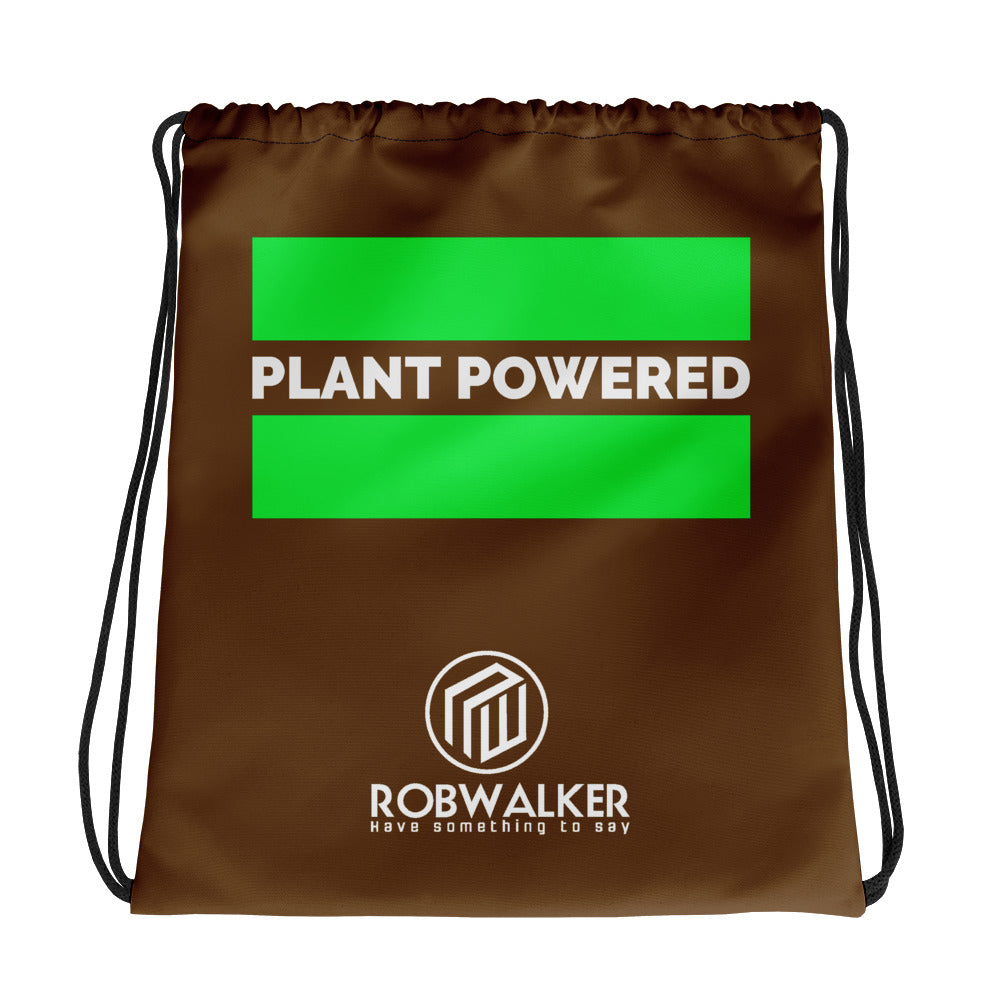 Plant =Powered Drawstring bag
