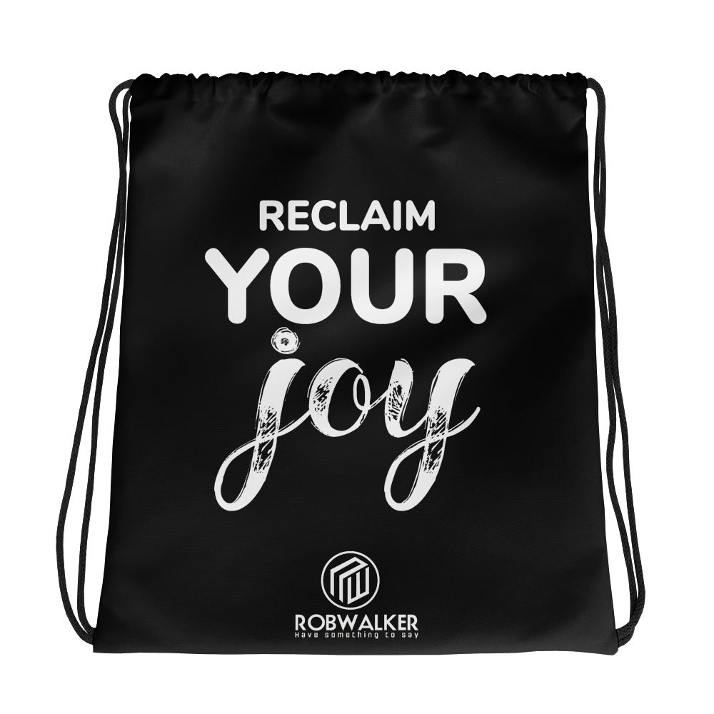 Reclaim Your Joy Drawstring bag