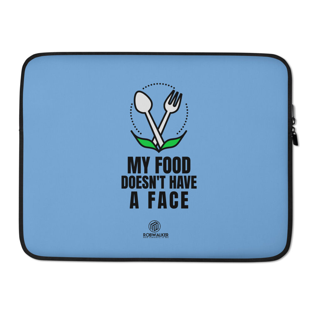 My Food Has No Face Laptop Sleeve