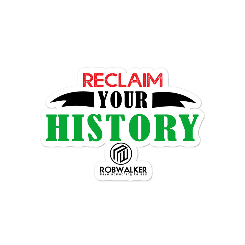 Value your History Bubble-free stickers