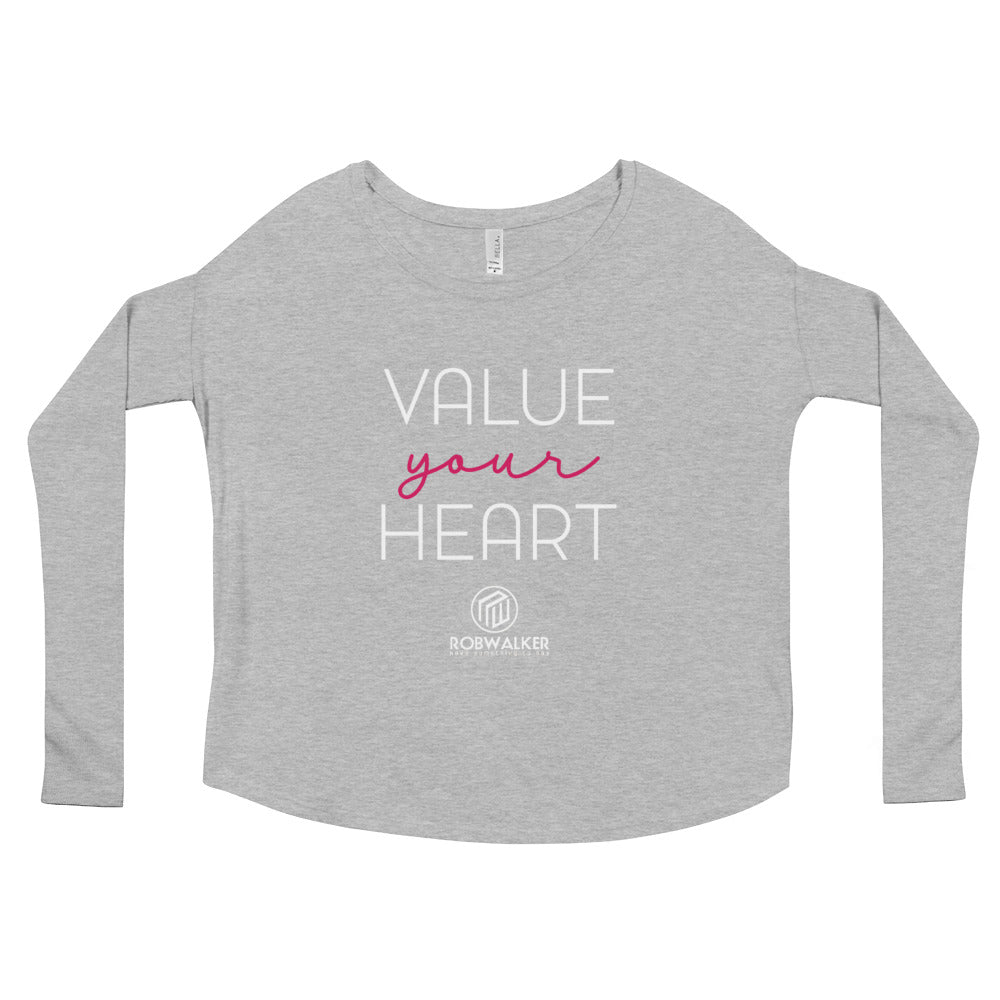 Value Your Heart Ladies' Long Sleeve Tee