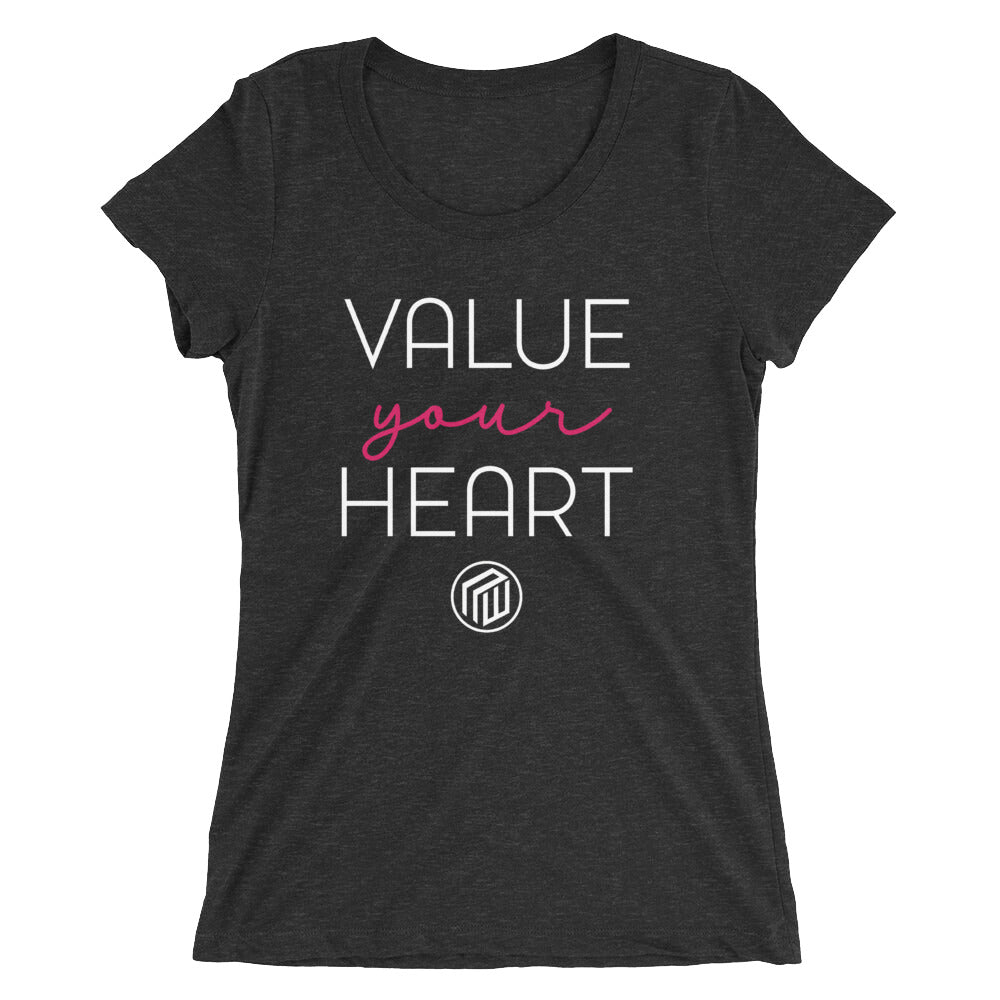 Value Your Heart Ladies' short sleeve t-shirt