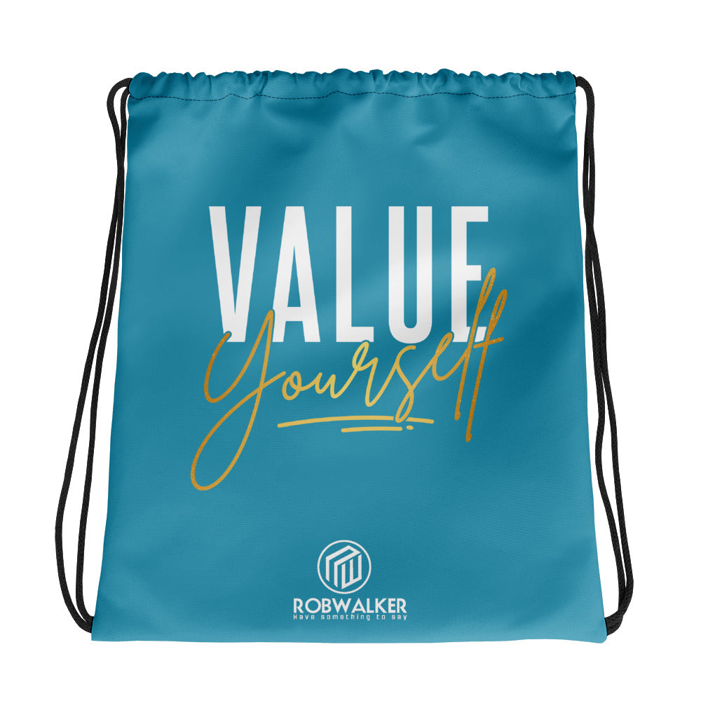 Value Yourself drawstring bag
