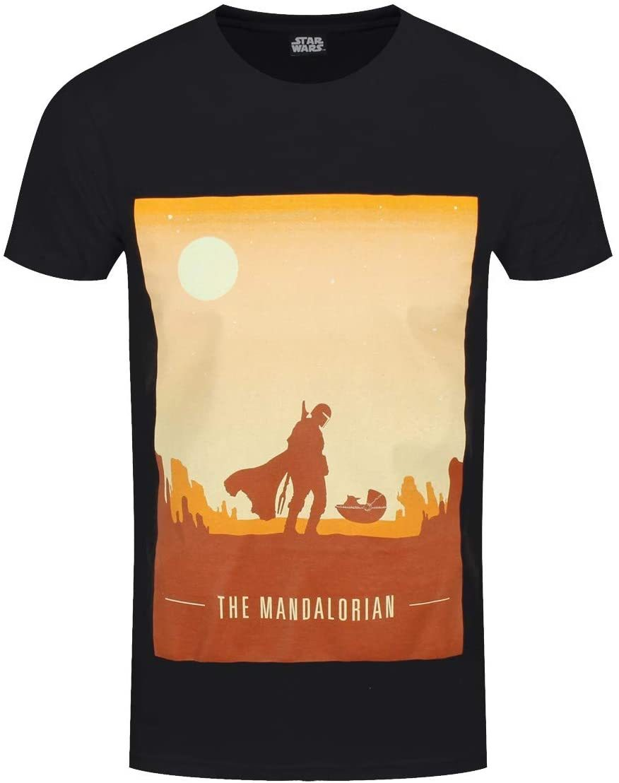 STAR WARS: THE MANDALORIAN OFFICIAL RETRO POSTER - SMALL [T-SHIRTS]