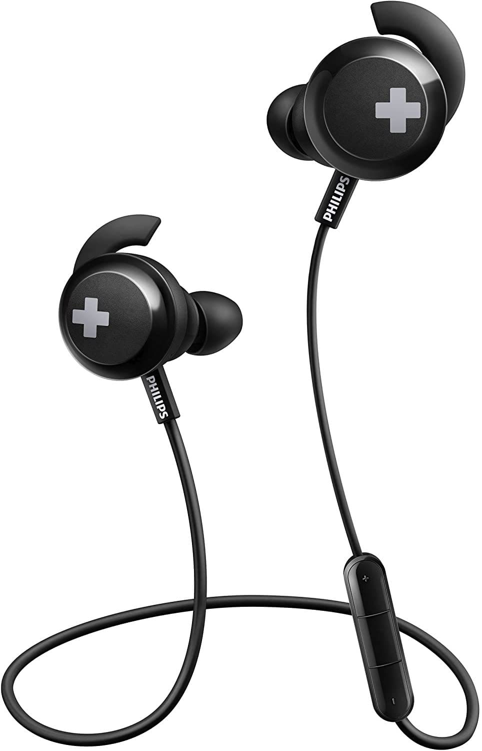 Philips SHB4305BK Bass+ Bluetooth Earphones with Mic - Black [Accessories]