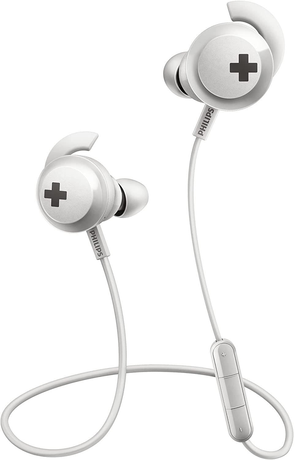 Philips SHB4305WT/00 Bass+ Bluetooth Earphones with Mic - White [Accessories]