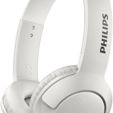 Philips Bass + Folding Headphones Bluetooth with Microphone - White [Accessories]
