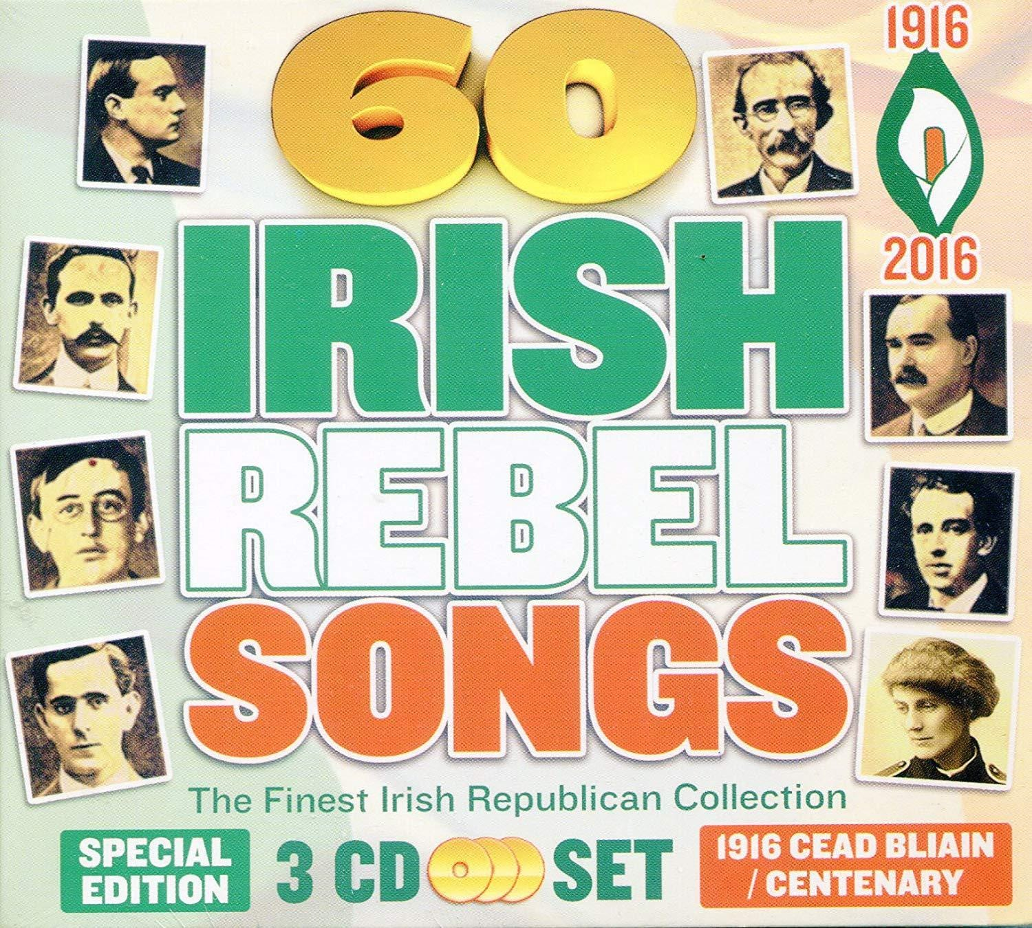 60 Irish Rebel songs - The Finest Irish Republican Collection Easter Rising 1916 Set) [CD]