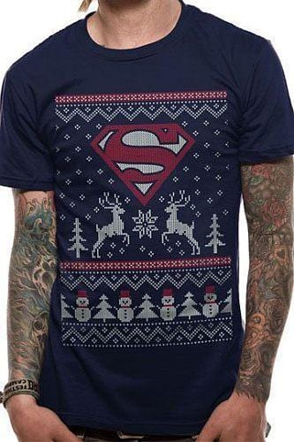 SUPERMAN REINDEER AND SNOWMAN - SMALL [T-SHIRTS]