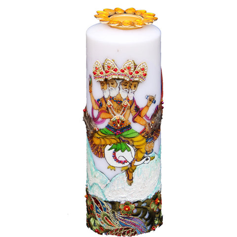 Candle with  Bramha Painting