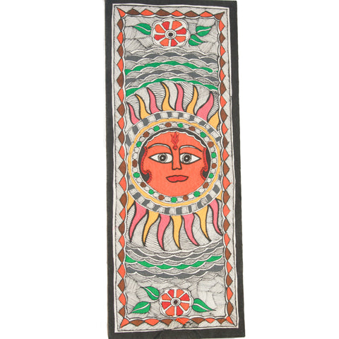 Painting: Madhubani - Depicting Sun- source of energy and life