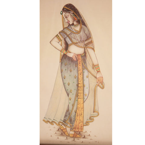 Painting:Miniature- From the series of Ragmaala Paintings-Depicting Ragini