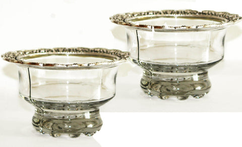 Set of 2 Glass Serving Bowls