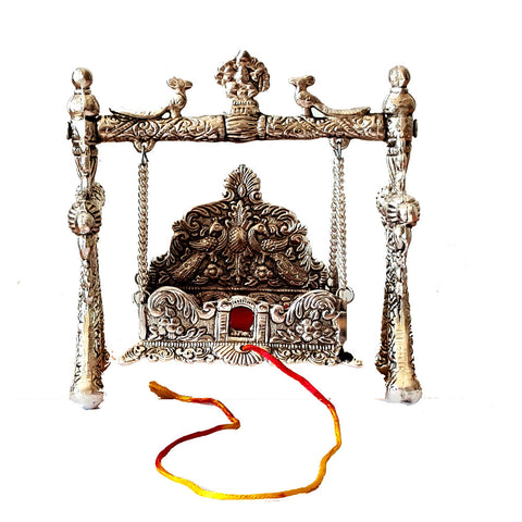 Puja Swing Made From White Metal also know as Krishna Jhula