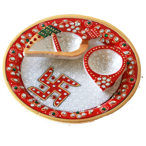 Marble Puja Thali or Plate