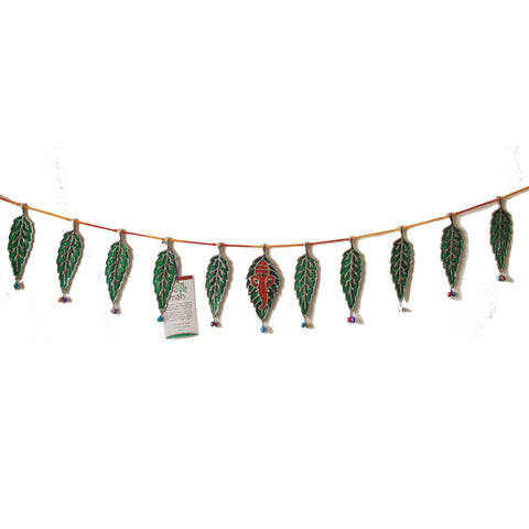 Toran/Bhandarwar/Door Decorative- Green and Red Colour