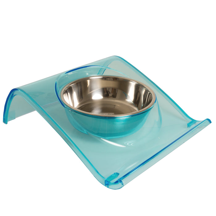 Blue Z Dog and Cat Bowl