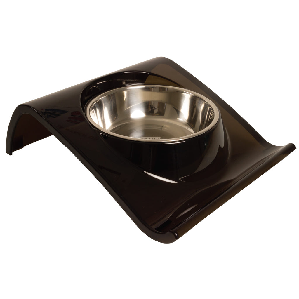 Black Z Dog and Cat Bowl