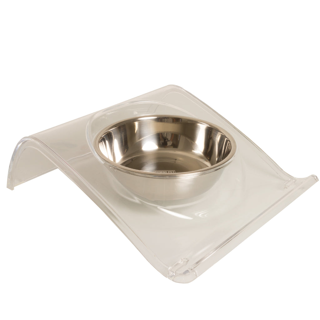 Clear Z Dog and Cat Bowl