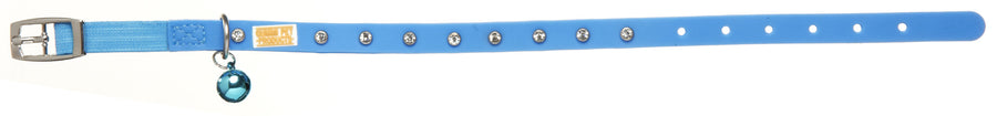 Bling Blue Cat and Kitten Collars from - gummipets
