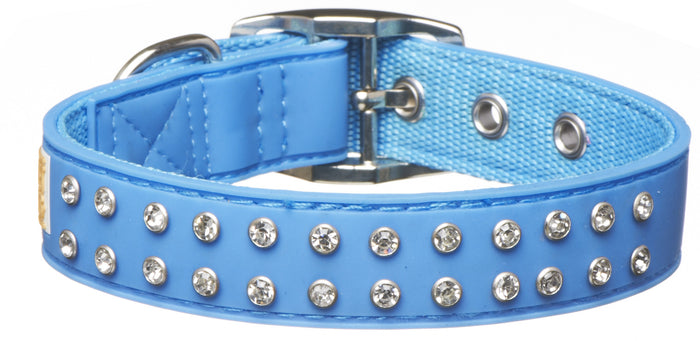 Bling Blue Collar From - gummipets