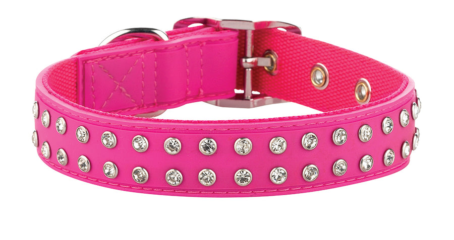 Bling Pink Dog Collar