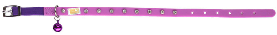 Bling Purple Cat and Kitten Collar From - gummipets