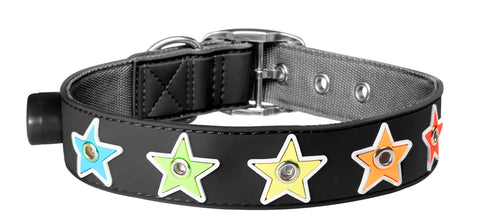 Flashing Black Star Collar from