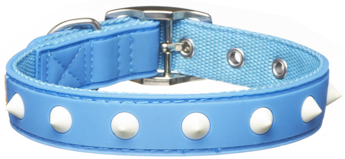 Spike Blue Glow Collar From - gummipets
