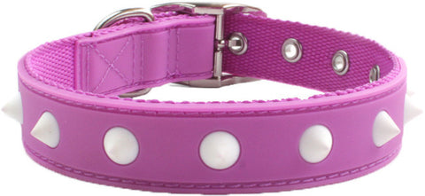 Spike Purple Dog Collar From