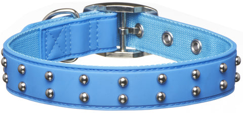 Stud Blue Dog Collar from
