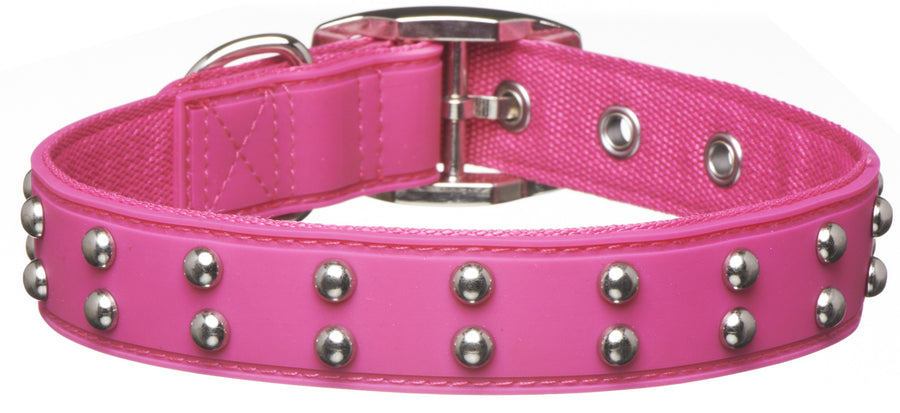 Stud Pink Dog Collar from - gummipets