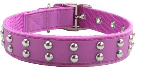 Stud Purple Dog Collar from