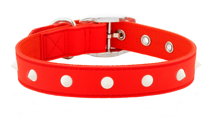 Spike Red Glow Dog Collar From - gummipets
