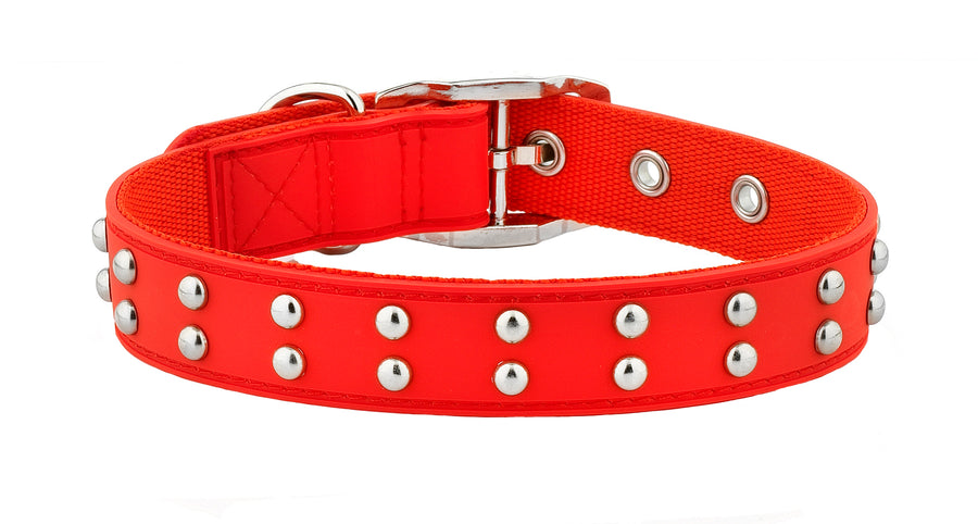 Stud Red Dog Collar From - gummipets
