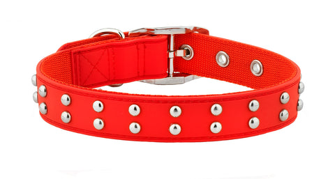 Stud Red Dog Collar From