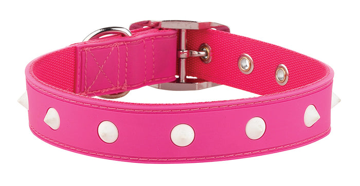 Spike Pink Glow Collar From - gummipets