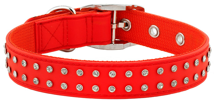 Bling Red Collar From - gummipets