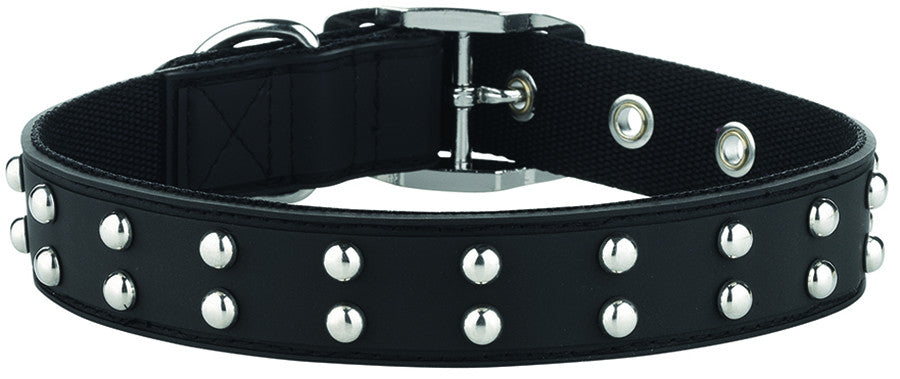 Stud Black Dog Collar