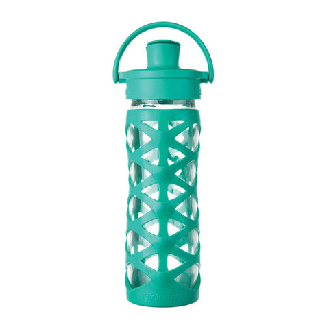 Borraccia In Vetro Active Flip Cup - 475 ml - Aquatic Green