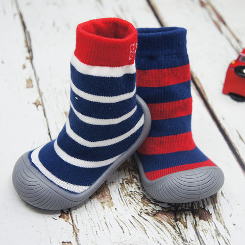 Ciabattine Antiscivolo Sock Shoe - Boy Stripe