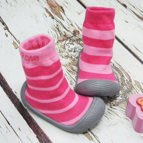 Ciabattine Antiscivolo Sock Shoe - Girl Stripe
