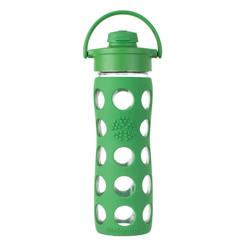 Borraccia In Vetro Flip Cap - 475 ml - Verde
