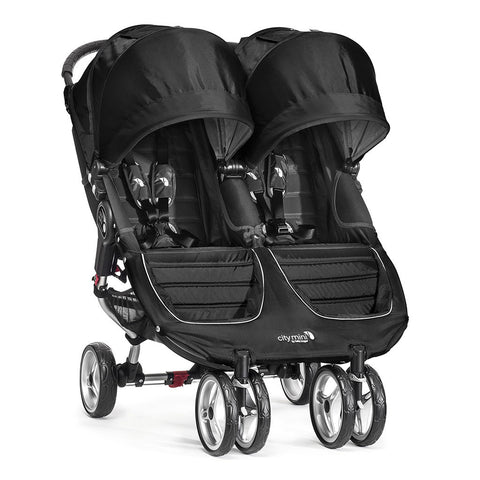 Passeggino Gemellare City Mini Double - Black/Gray