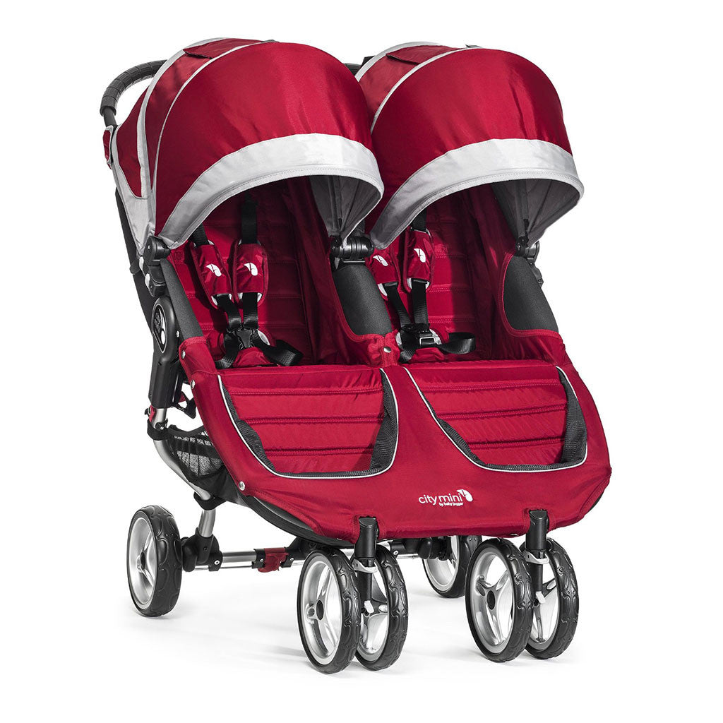 Passeggino Gemellare City Mini Double - Crimson/Gray